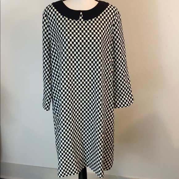 Kate Spade Geometric Collar Shift Dress